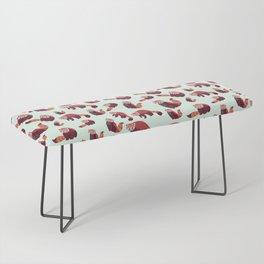 Red Panda Pattern Bench