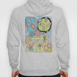 Abstract Star Colony Pattern Hoody