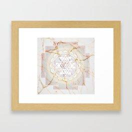 Sri Yantra pattern Framed Art Print