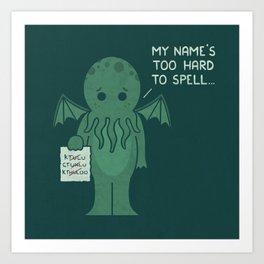 Monster Issues - Cthulhu Art Print