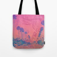 california Tote Bags featuring California by Calepotts