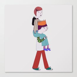 piggy back Canvas Print