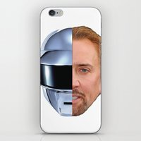 nicolas cage iPhone & iPod Skins featuring Daft Cage by Jared Cady