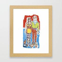 Hipster Couple Framed Art Print