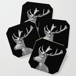 Deer Black Coaster