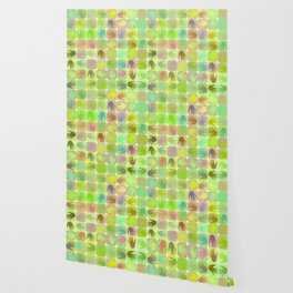 Multicolored hands pattern Wallpaper