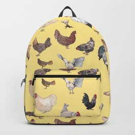 Chicken Happy (yellow) Backpack