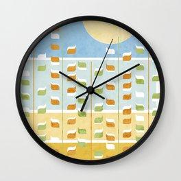Golden Fields Wall Clock