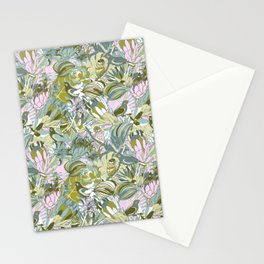 Tropical paradise | Grayish Turquoise Stationery Cards