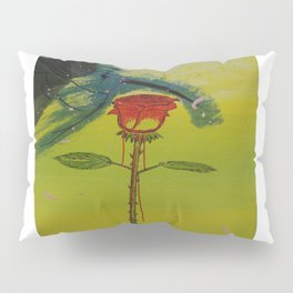 Blurry hummingbird and a melting roze Pillow Sham