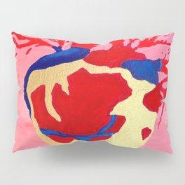 Cool Golden Heart Original Painting On Canvas Pillow Sham