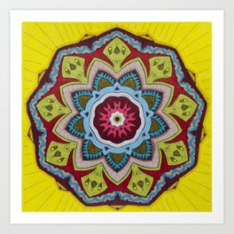 Blessing Mandala - מנדלה ברכה Art Print