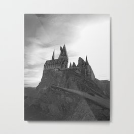 Hogwarts Castle on the Hill Metal Print