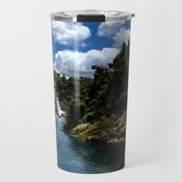 Frying Pan Lake, New Zealand Landscape Travel Mug