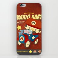 mario kart iPhone & iPod Skins featuring mario kart vintage by danvinci