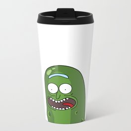 Pickle Rick Pocket! I'm Pickle Riiiiiiiick! Metal Travel Mug