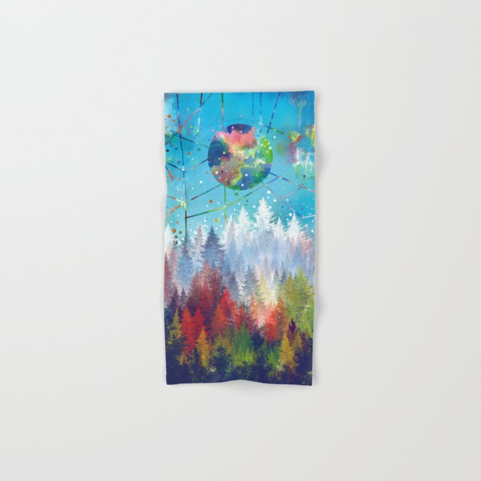colorful forest 3 Hand & Bath Towel
