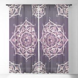 Violet Glowing Spirit Mandala Sheer Curtain