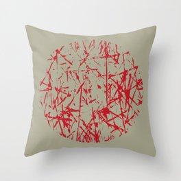 Abstract Scribble Design Throw Pillow