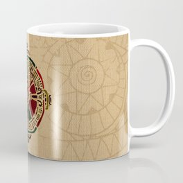 Colorful Hunab Ku Mayan symbol on cotton Coffee Mug