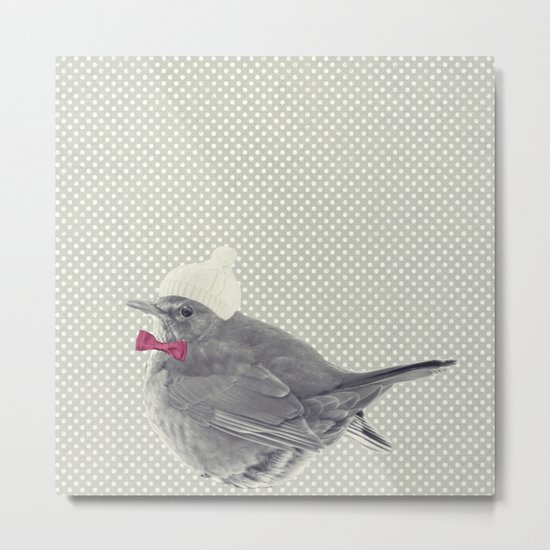 WINTERBIRD Metal Print