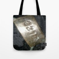 221b Tote Bags featuring 221B  by Foundtique