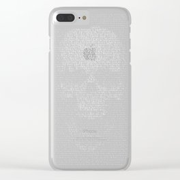 "Skull - Textur ""Love You"" Clear iPhone Case"