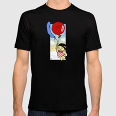 Flying balloon Mens Fitted Tee MEDIUM Black