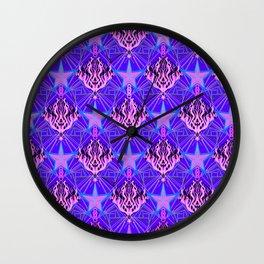Starfire Kaleidoscope (Cotton Candy Star) Wall Clock