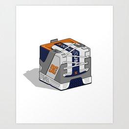 DC Cubic Lynx - Navy/Grey Art Print