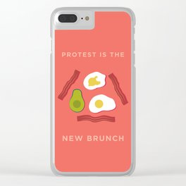 Protest is the New Brunch Clear iPhone Case