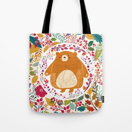Bear in autumn forest Tote Bag