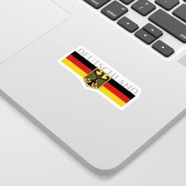 Deutschland ...German Flag and Eagle Sticker