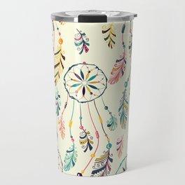 Boho Dreamcatcher Pattern Travel Mug
