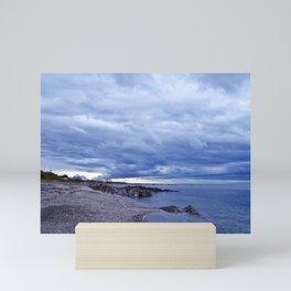 Funnel Cloud and the Coast Mini Art Print