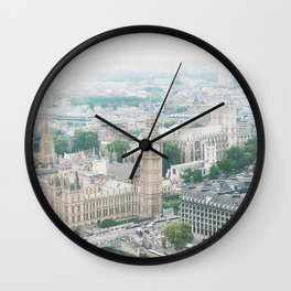 London Skyline Travel Photography Wall Clock