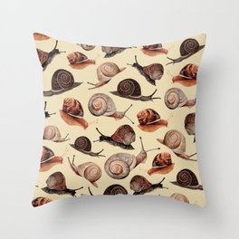 A Slew Of Snails Throw Pillow