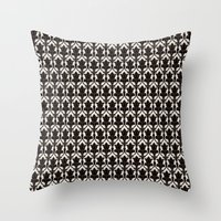 221b Throw Pillows featuring 221B by Jessica Cushen