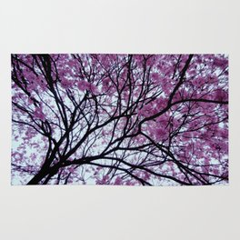 Exotic pink - tropical trees Rug