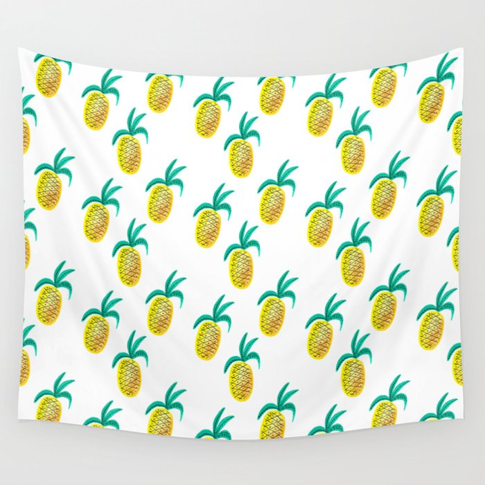 f1f90a892dc Pineapple Princess Wall Tapestry by kathrynmcfarlane