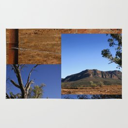 Australian Outback Collage Rug