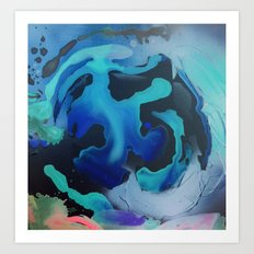 Swim with the Mermaids in the Great Natural Deep Blue Sea Art Print