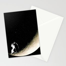 Moon and cats Stationery Cards