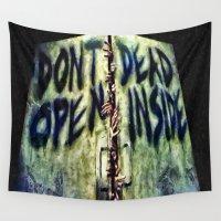 walking dead Wall Tapestries featuring Walking Dead Dont Open by Joe Misrasi