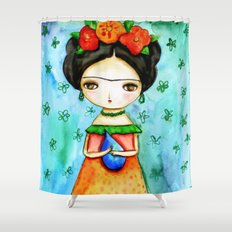 Frida And Her Tears Shower Curtain