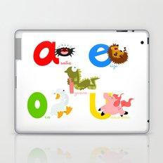 Vowels (spanish) Laptop & iPad Skin