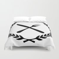 eat Duvet Covers featuring Eat by Noah Zark