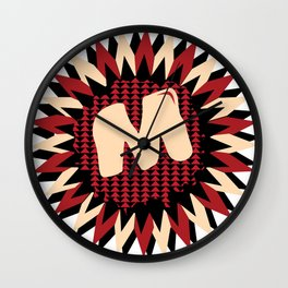 Moulded Rides Puzzle M Wall Clock