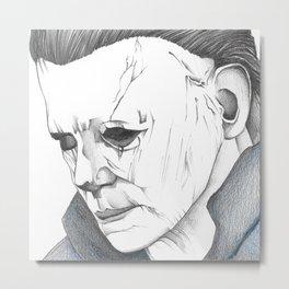 Happy Halloween, Michael Myers Portrait Metal Print