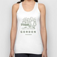 wisconsin Tank Tops featuring Gordon Wisconsin  by coltgriffithdesign